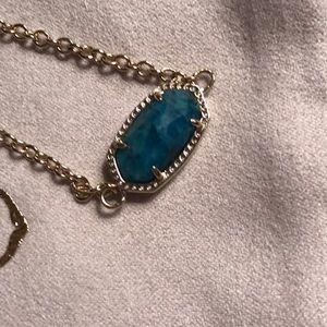 Kendra Scott marbled blue stone bracelet